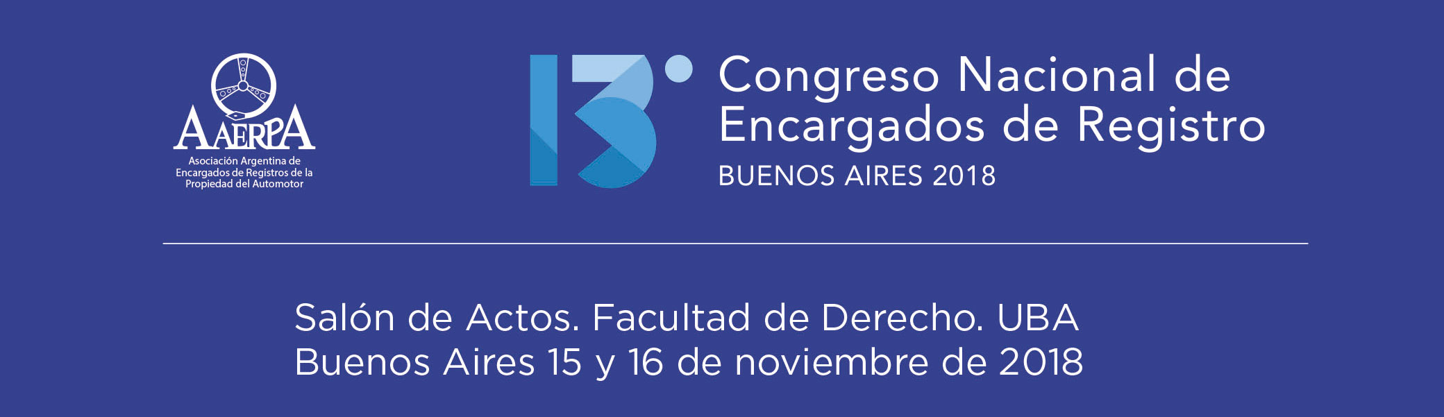 XIII Congreso Nacional de Encargados de Registro