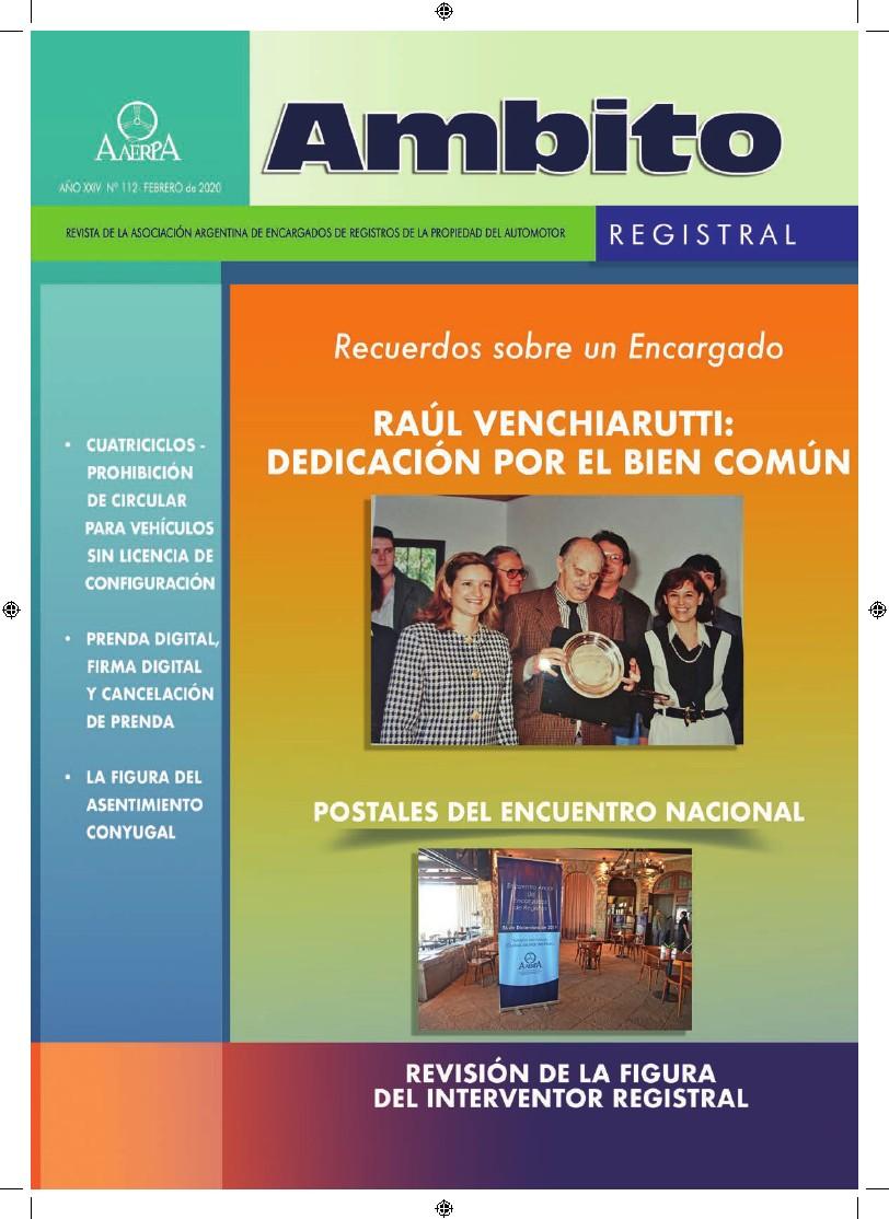 Revista Ámbito Registral Nº 112