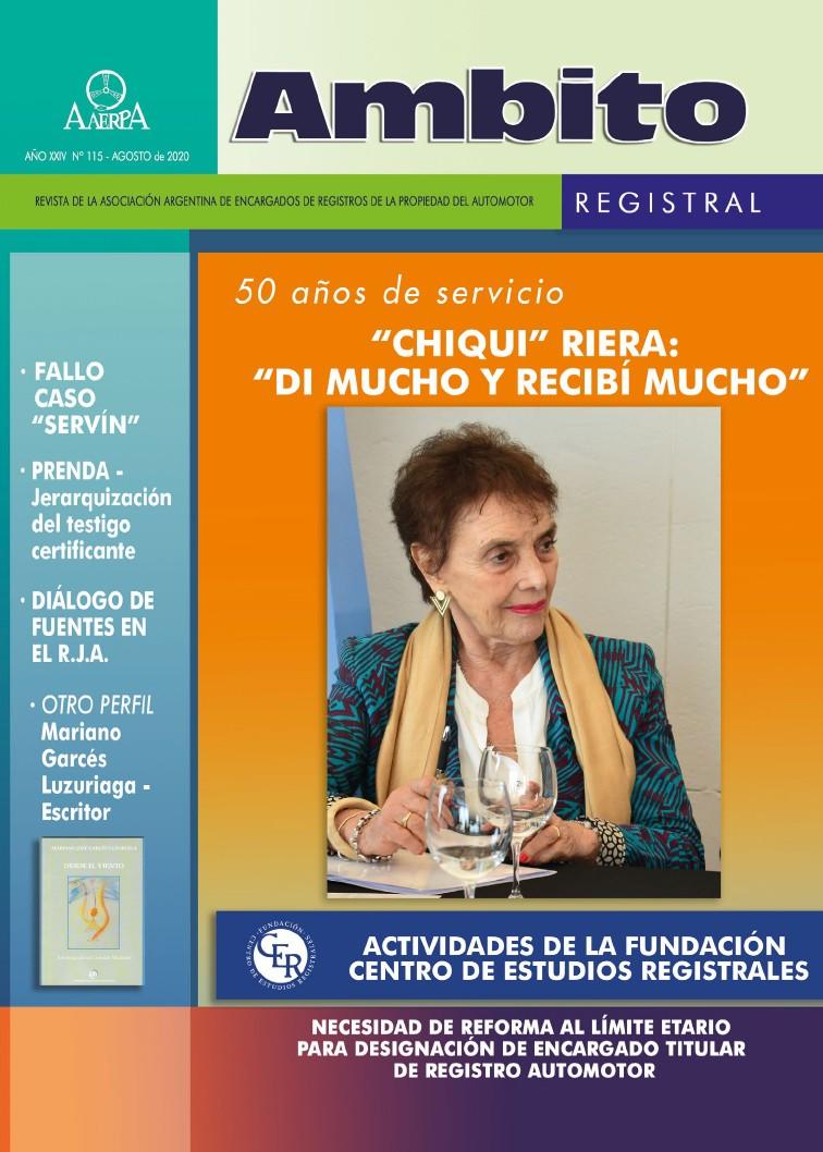 Revista Ámbito Registral Nº 115