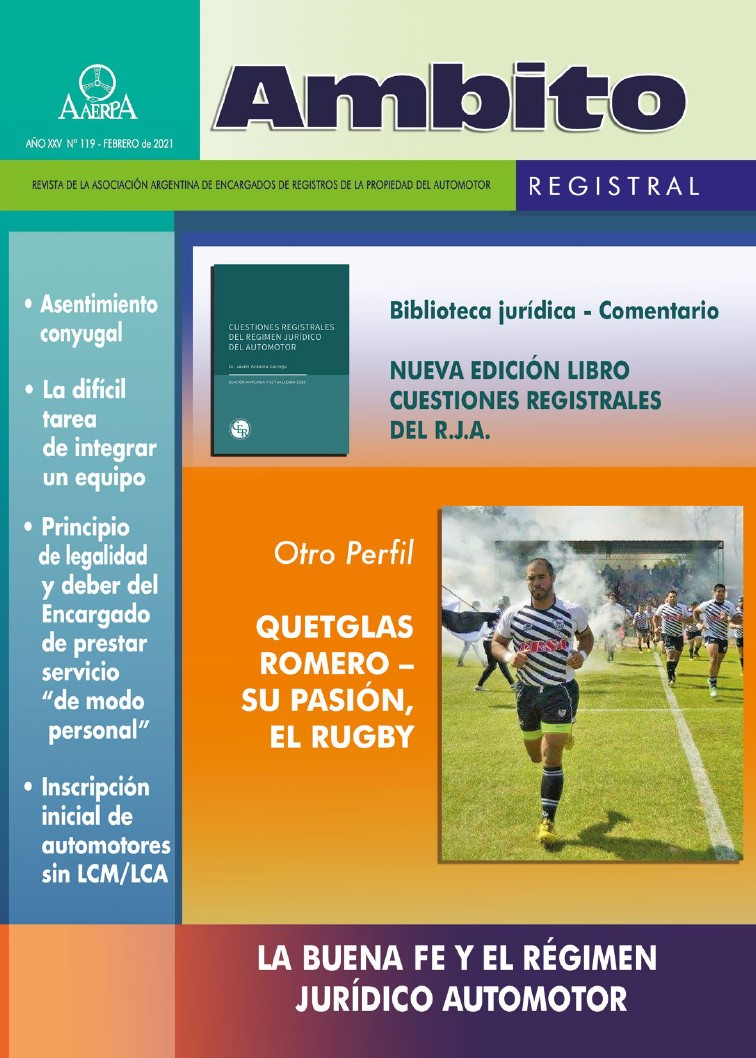 Revista Ámbito Registral 119